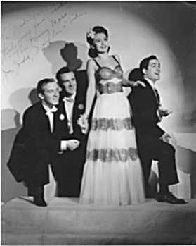 "With their distinctive rhythmic vocal style and xylophone accompaniment, The Merry Macs had one of the most unique and recognizable ""sounds"" of any vocal group of the 1940s."