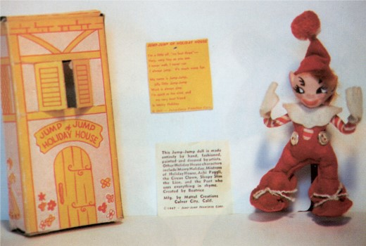 An original Jump Jump doll from 1948, complete with original box.