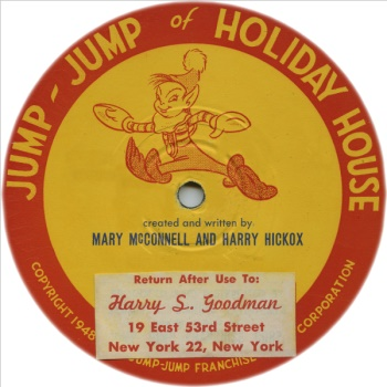 Jump Jump Original Transcription Disk Label